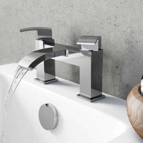 chrome waterfall bath tap