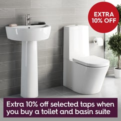 Save 10% on basin taps when you buy a toilet & basin suite