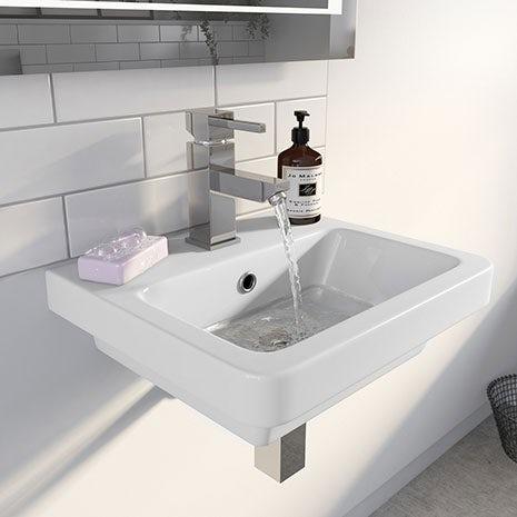 white wall hung basin