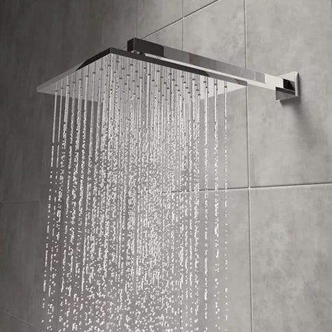 chrome rain can shower head