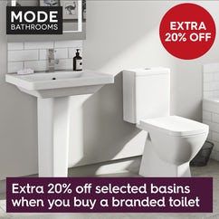 An extra 20% off branded basins with branded toilets