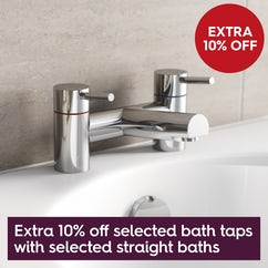 Save 10% on bath taps when you buy a selected straight bath