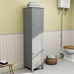 white wall hung cabinet