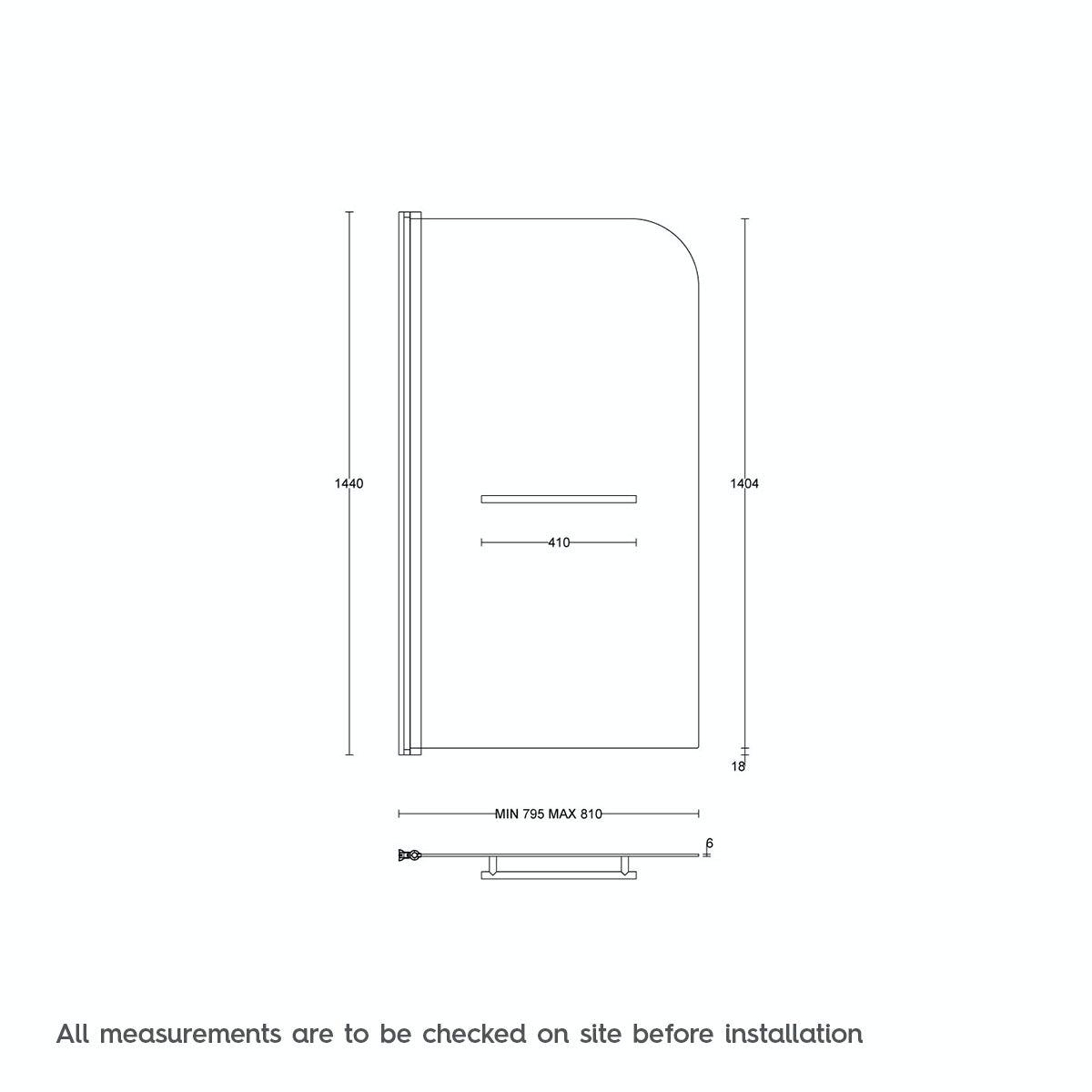 6mm Straight Shower Bath Screen With Rail Victoriaplum Com