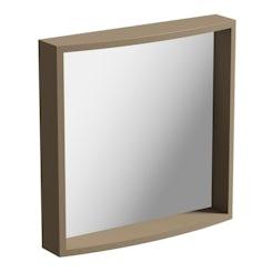 Mode Curvaceous mocha bathroom mirror