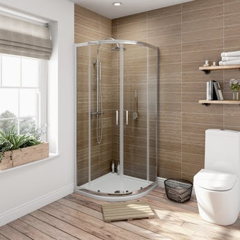 6mm sliding quadrant shower enclosure 800 x 800 offer pack