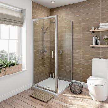 6mm pivot door square shower enclosure