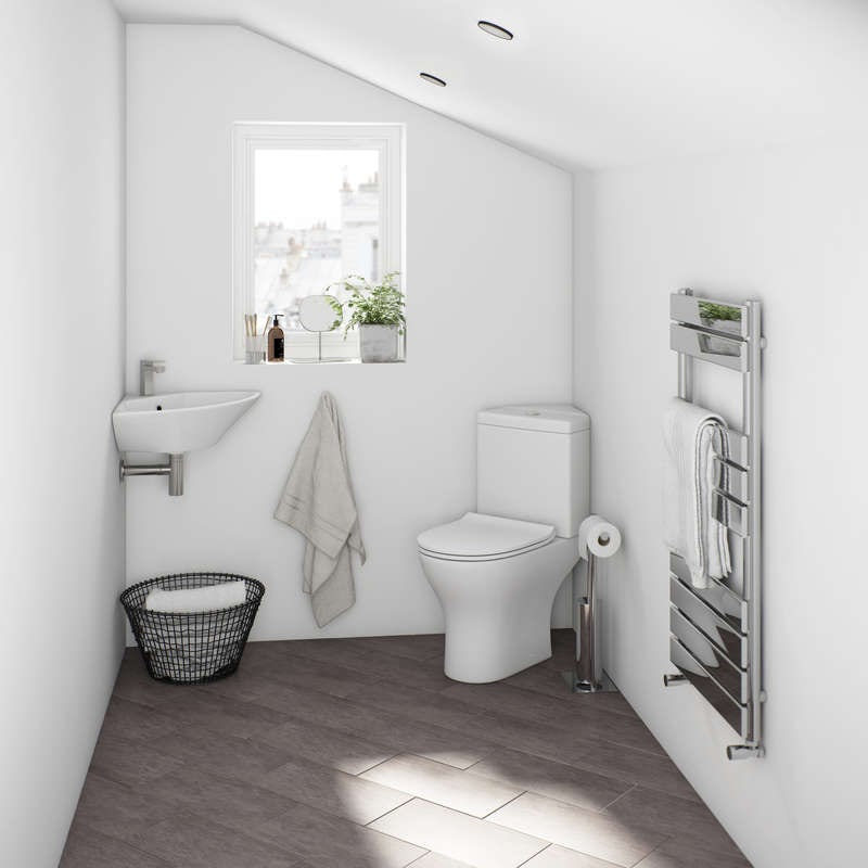 Compact round bathroom suite range