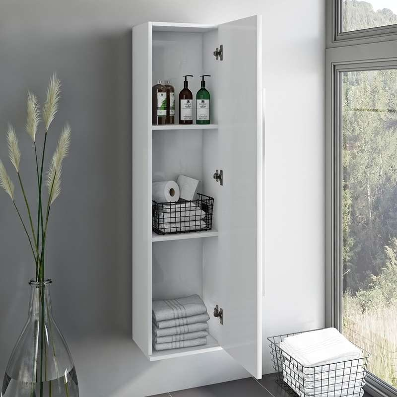 Orchard Derwent white tall storage cabinet