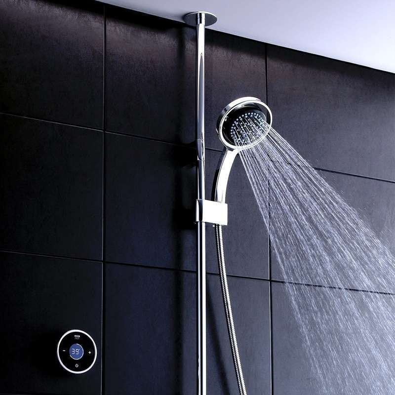 Mira Platinum ceiling fed digital shower standard
