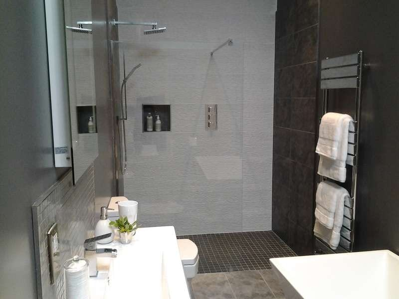 Wet Room Design Ideas Small Part - 19: Monochrome Wet Room
