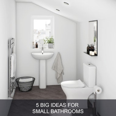 5 big ideas for small bathrooms