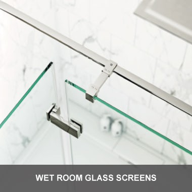 Wet room glass screens
