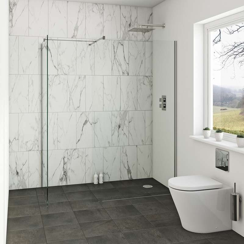 Wonderful Small Bathroom Wet Room Ideas. Mode Luxury 8mm Wet Room Enclosure Glass  Panel Packs
