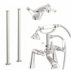 Antonio basin and freestanding bath shower mixer tap pack