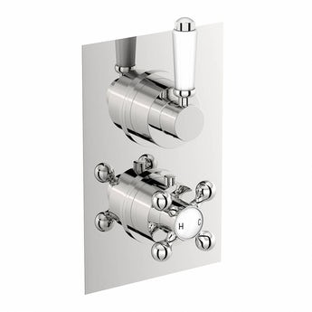 The Bath Co. Traditional square twin thermostatic shower valve