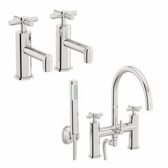 Alexa basin tap and bath shower mixer tap pack