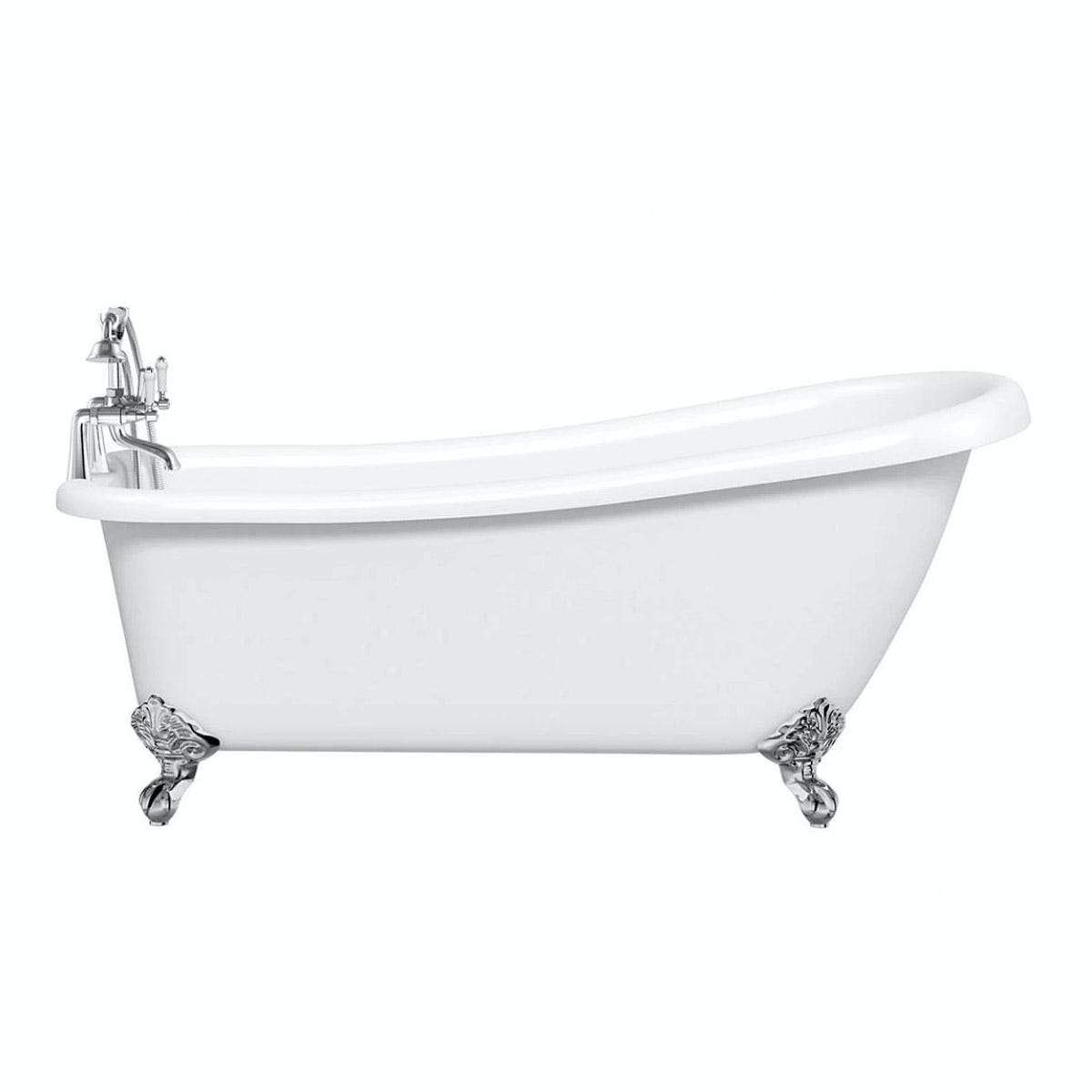 Winchester Slipper Bath With Ball Feet 1540 X 720