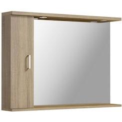 Sienna oak bathroom mirror with lights 1050mm