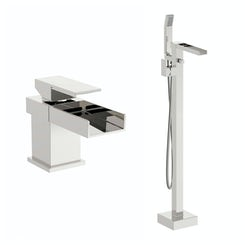 Mode Metro basin mixer and bath shower standpipe pack