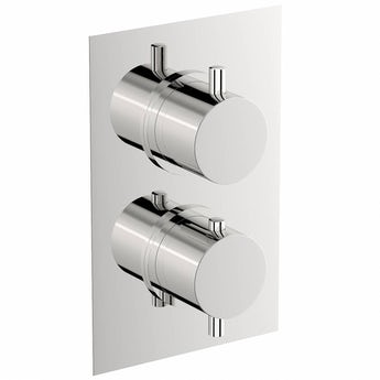 Mode Matrix square twin thermostatic shower valve with diverter