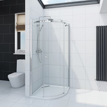 Infiniti 8mm sliding door quadrant shower enclosure offer pack