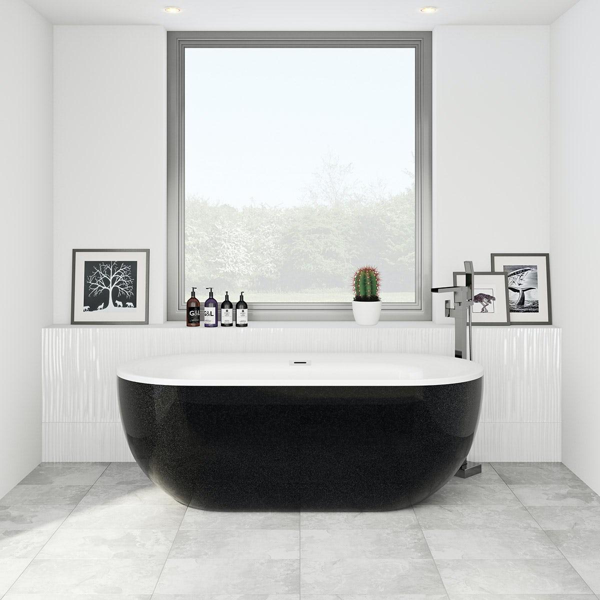 black modern bath