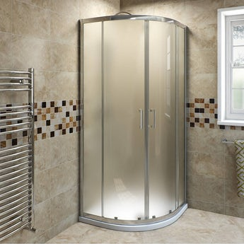 6mm frosted glass sliding quadrant shower enclosure 900 x 900 offer pack