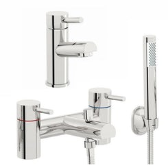 Matrix basin and bath shower mixer tap pack