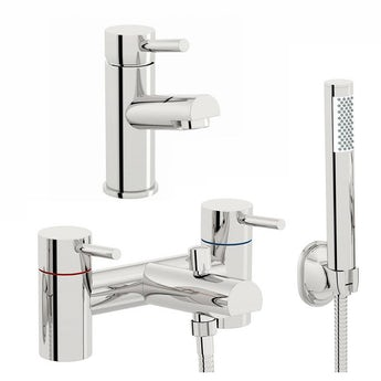 Matrix basin and bath shower mixer tap pack