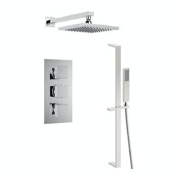 Mode Cubik thermostatic triple shower valve complete shower set