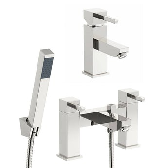 Cubik basin and bath shower mixer tap pack