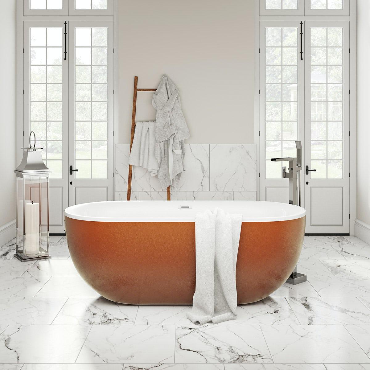 orange modern bath