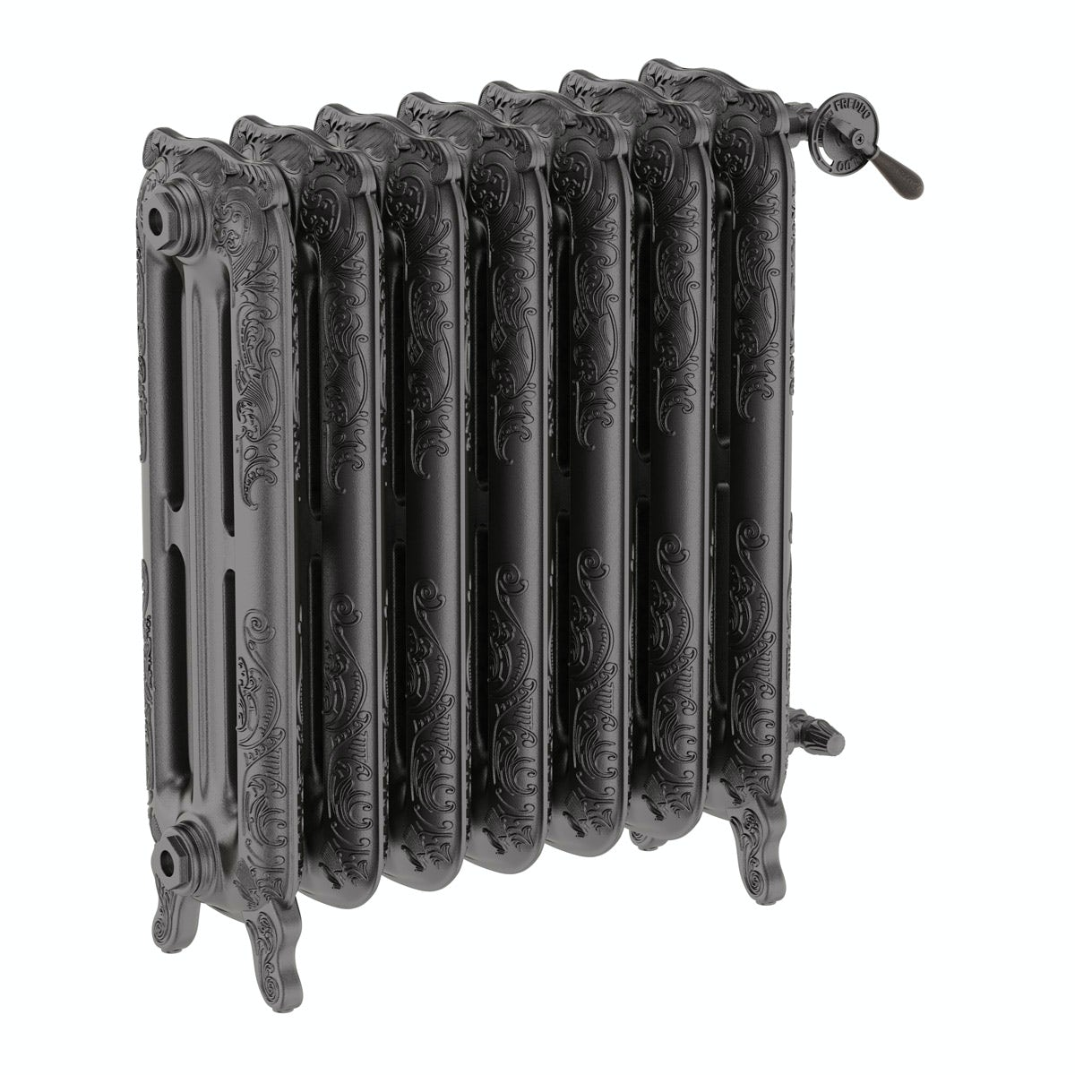 cast iron radiator with fine detail