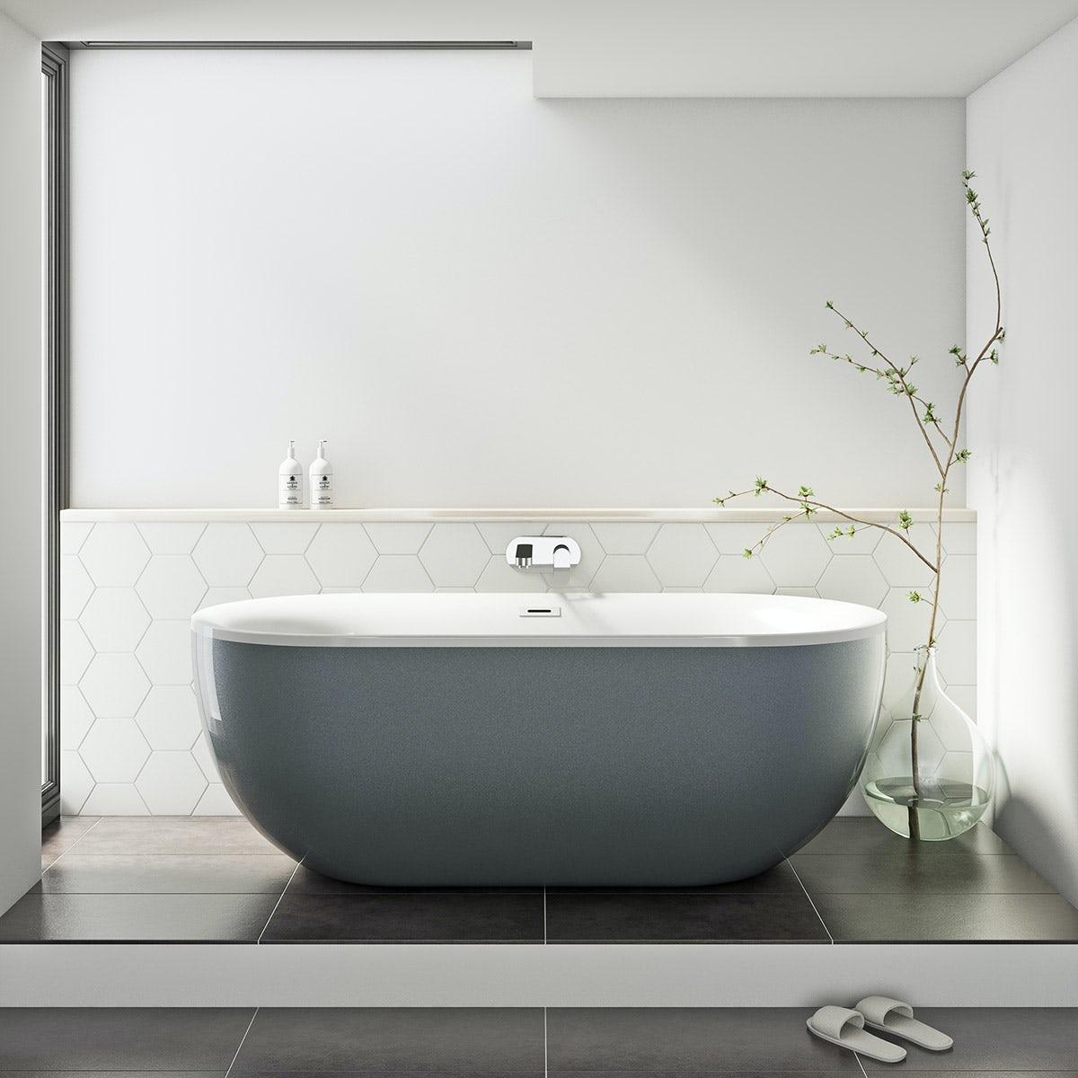 grey modern bath
