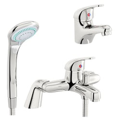 Pulse basin and bath shower mixer tap pack