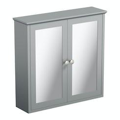 The Bath Co. Camberley grey wall hung mirror cabinet