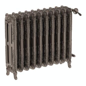 Terma Oxford russet freestanding cast iron radiator 710 x 852