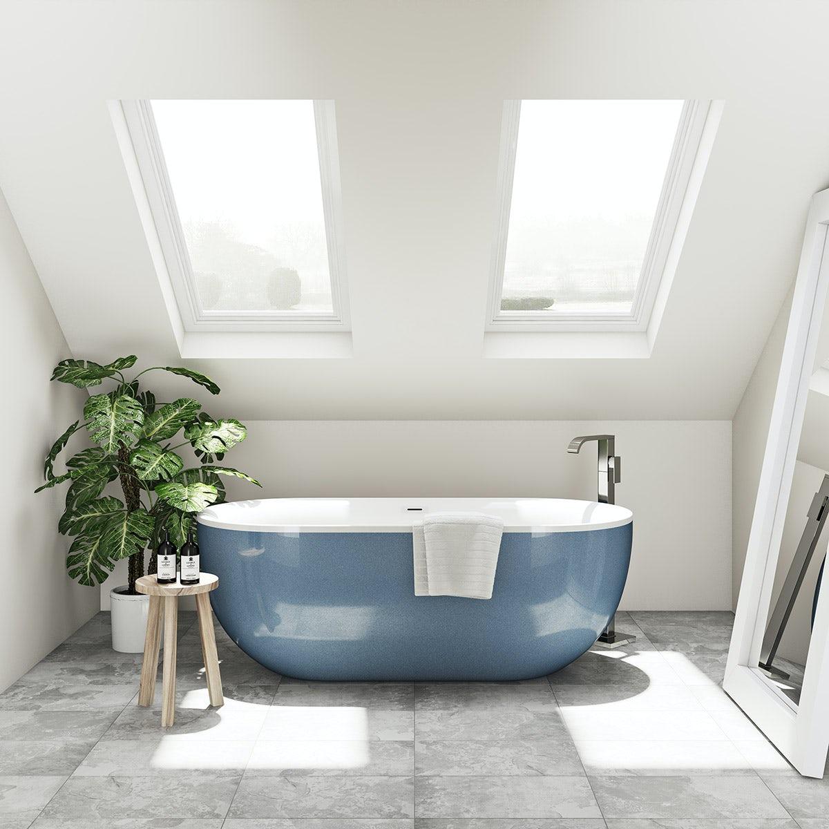 blue modern bath