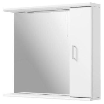 Sienna white bathroom mirror with lights 850mm