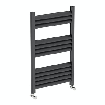 Champagne anthracite heated towel rail 800 x 500