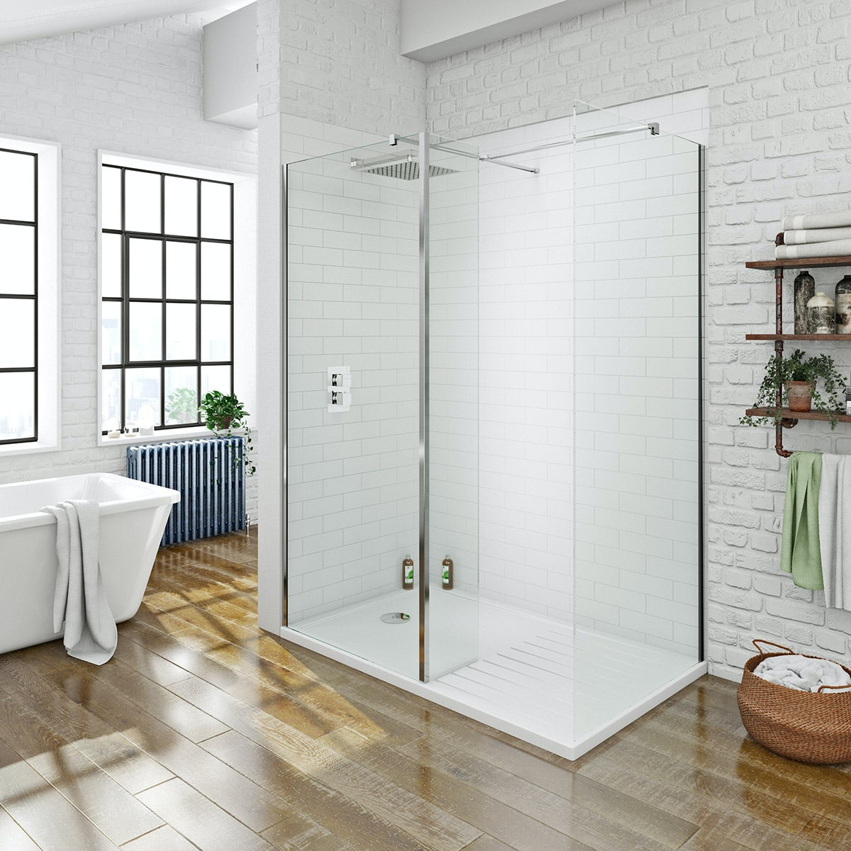 Mode arte suite with luxury 8mm walk in shower enclosure for Walk in shower plans and specs