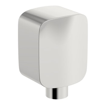 Square brass wall shower outlet