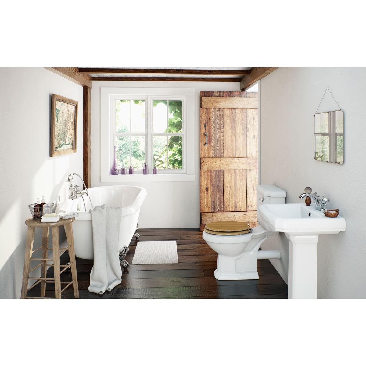 cavendish oak bathroom suite with roll top bath large victoriaplum
