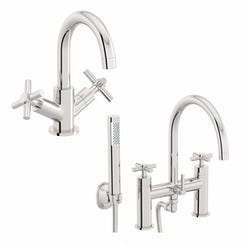Alexa basin and bath shower mixer tap pack