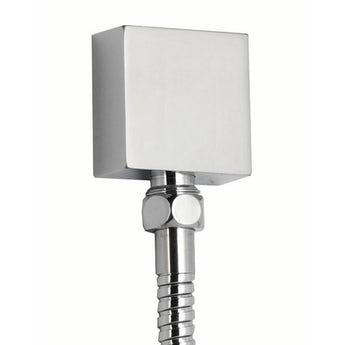 Square wall shower outlet