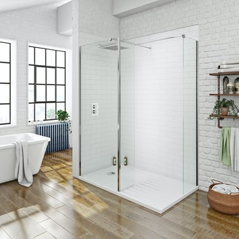 Mode luxury 8mm walk in shower enclosure with shower tray