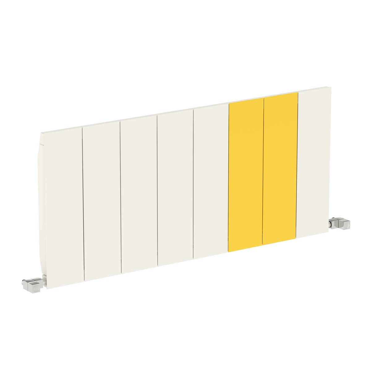 white and yellow modern radiator