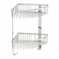 Options brass double triangular shower caddy