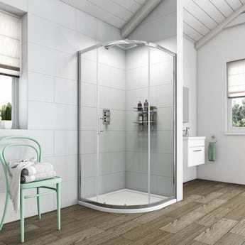 Clarity 6mm single door quadrant shower enclosure